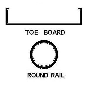 Round Rail and Toeboards